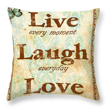Live-laugh-love Throw Pillow