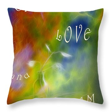 Live Love And Dream Throw Pillow by Veikko Suikkanen