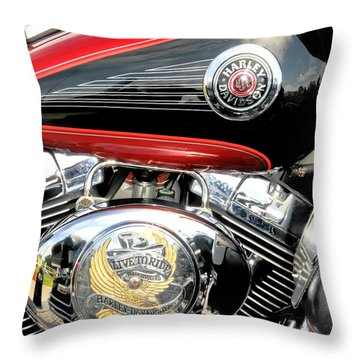 Throw Pillow featuring the photograph Live To Ride  Ride To Live By David Lawrence by David Perry Lawrence