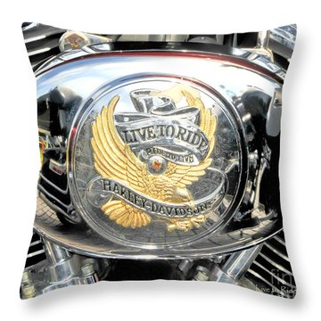 Throw Pillow featuring the photograph Live To Ride - Ride To Live 2 By David Lawrence by David Perry Lawrence