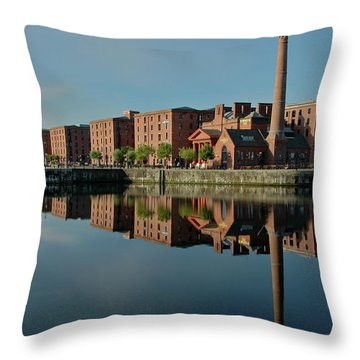 Liverpool Canning Docks Throw Pillow by Jonah  Anderson
