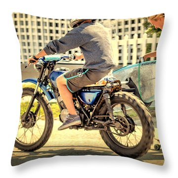 Livin' On The Edge Throw Pillow by Phil Mancuso