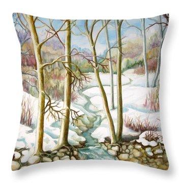 Living Creek Throw Pillow