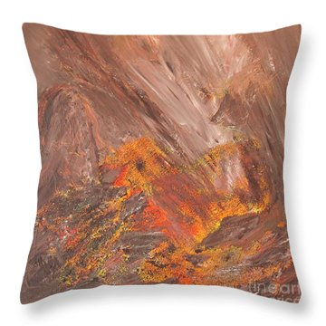 Living Earth-kneeling Buddha Throw Pillow by Susan  Dimitrakopoulos