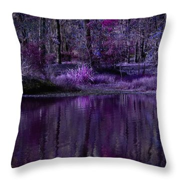 Living In A Purple Dream Throw Pillow by Linda Unger