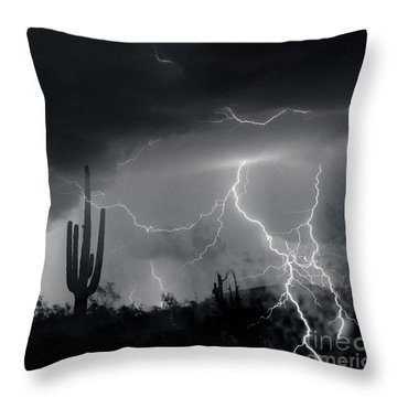 Throw Pillow featuring the photograph Living In Fear by J L Woody Wooden