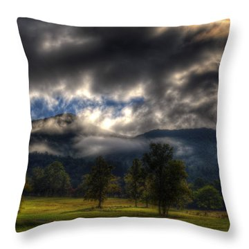 Living In The Clouds Of Western North Carolina Throw Pillow