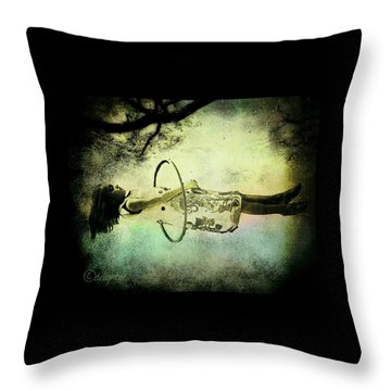 Throw Pillow featuring the digital art Living In The Fear by Delight Worthyn