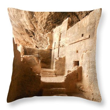 Throw Pillow featuring the photograph Living In The Rocks by Kerri Mortenson