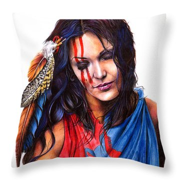 Living In Two Worlds Throw Pillow