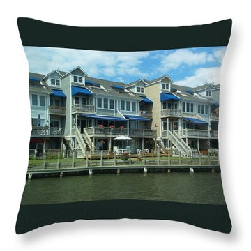 Throw Pillow featuring the photograph Living On The Dock Of The Bay by Emmy Marie Vickers