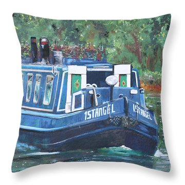 Living On The River Throw Pillow
