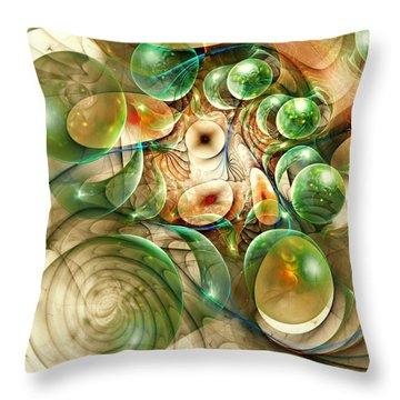Living Organisms Throw Pillow by Anastasiya Malakhova