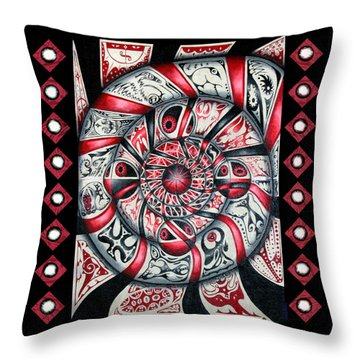 Living Spiral Throw Pillow