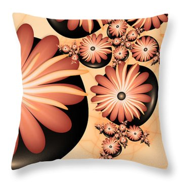 Throw Pillow featuring the digital art Living Stones by Gabiw Art