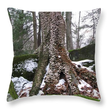 Living Together 2 Throw Pillow by Michael Krek