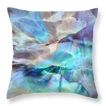 Living Waters - Abstract Art Throw Pillow