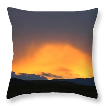 Livingstone Range Sunset Throw Pillow