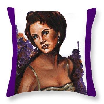 Throw Pillow featuring the painting Liz by Alga Washington