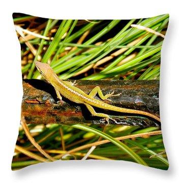 Lizard Throw Pillow by Cyril Maza