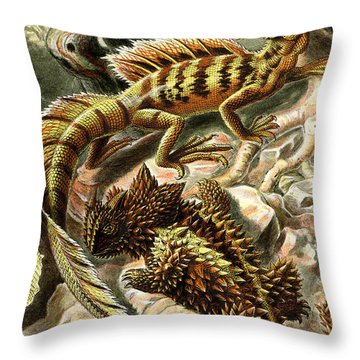 Lizard Detail II Throw Pillow by Unknown