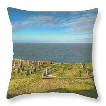 Llanbadrig Church Panorama Throw Pillow by Adrian Evans
