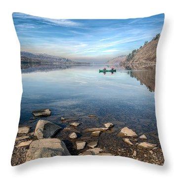 Llanberis Lake Throw Pillow by Adrian Evans