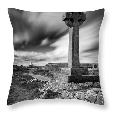 Llanddwyn Island Throw Pillow by Dave Bowman