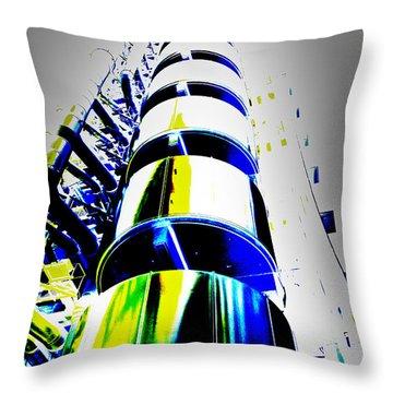 Lloyd's Building London Art Throw Pillow by David Pyatt