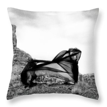 Llydia En El San Rafael Throw Pillow by Tarey Potter