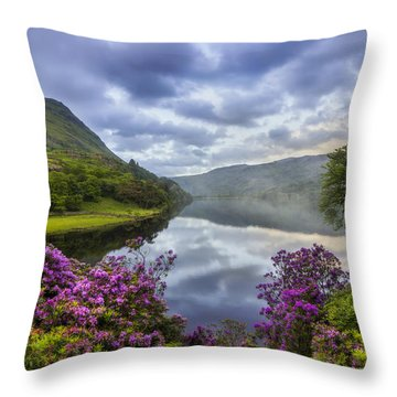 Llyn Gwynant Throw Pillows