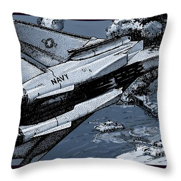 Loaded For Tank Throw Pillow by Joseph Juvenal