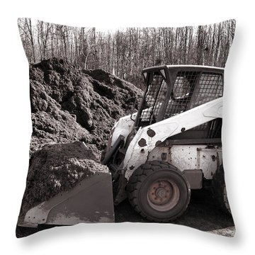 Loader  Throw Pillow by Olivier Le Queinec