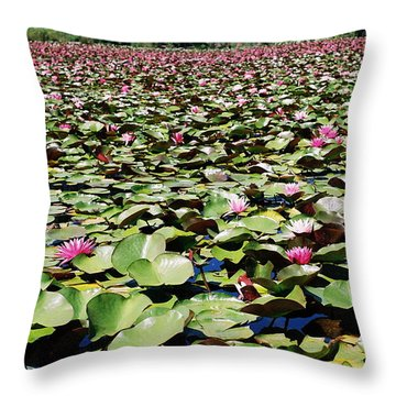 Throw Pillow featuring the photograph Loads Of Lilies by Cathie Douglas