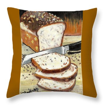 Loaf Of Bread Throw Pillow