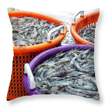 Loaves And Fishes Throw Pillow by Patricia Greer