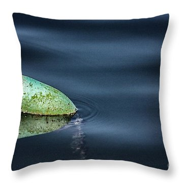 Lobster Buoy Throw Pillow by Nicola Fiscarelli