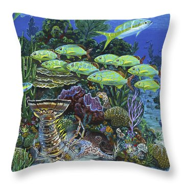Lobster Feast Re0019 Throw Pillow by Carey Chen