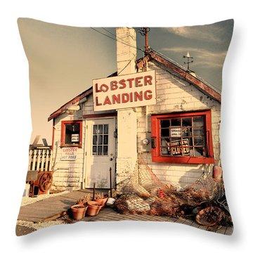 Lobster Landing Clinton Connecticut Throw Pillow