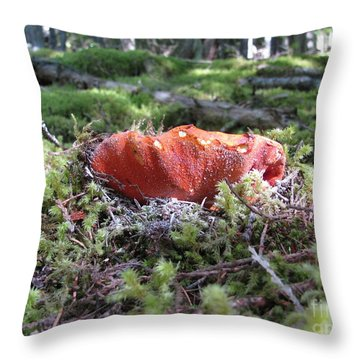 Lobster Mushroom Throw Pillow