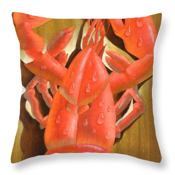Lobster On A Plank Throw Pillow