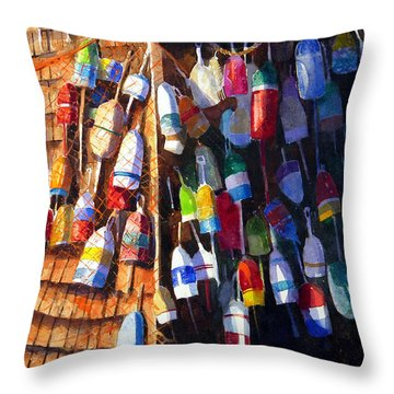 Lobster Shack Throw Pillow by Suzy Pal Powell