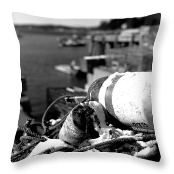 Lobster Traps 07 Throw Pillow by Timothy Bischoff