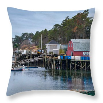Lobstering Throw Pillow by Guy Whiteley