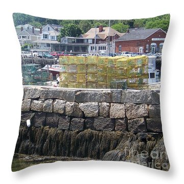 Throw Pillow featuring the photograph New England Lobster by Eunice Miller
