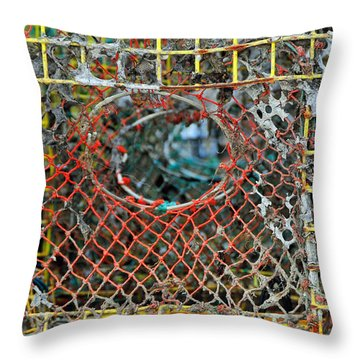 Lobster's Point Of View Throw Pillow by Mike Martin