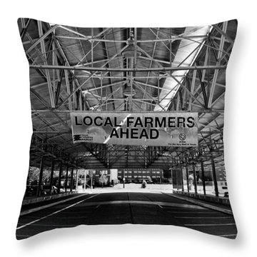 Local Farmers Throw Pillow by Mark Alder