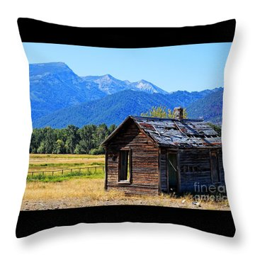 Throw Pillow featuring the photograph Location Location Location Montana by Joseph J Stevens
