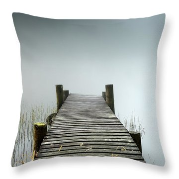 Throw Pillow featuring the photograph Loch Ard Jetty by Grant Glendinning