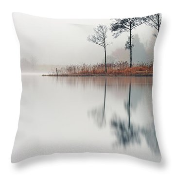 Loch Ard Reflections Throw Pillow